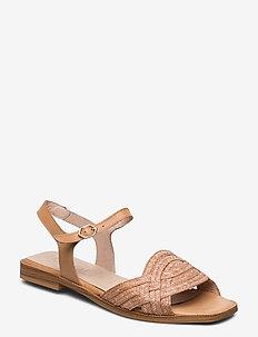 A-1402 - flate sandaler - sand