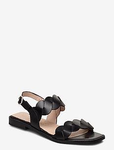 A-1403 - płaskie sandały - black