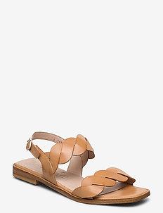A-1403 - flate sandaler - sand
