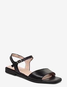 A-1404 - flate sandaler - black