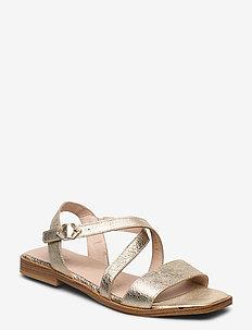 A-1406 - płaskie sandały - gold