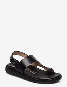 B-7404-F - płaskie sandały - black
