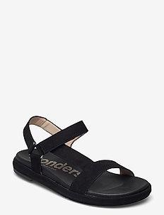 B-7410-F ANTE - flat sandals - black