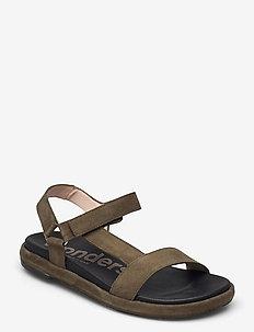 B-7410-F ANTE - flat sandals - green