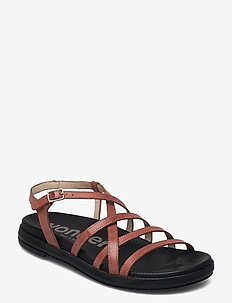 B-7412 PERGAMENA - flat sandals - brown