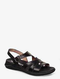C-5621 - flate sandaler - black