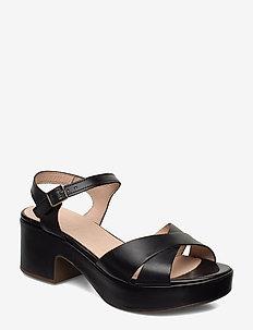 D-8801 - sandały na obcasie - black