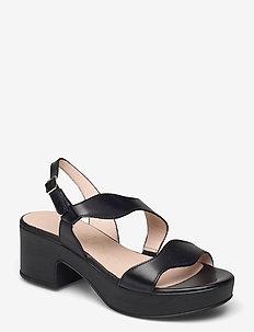 D-8813-P PERGAMENA - heeled sandals - black