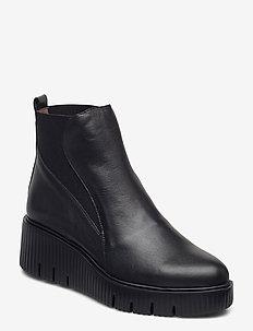 E-6223 - ankelstøvler med hæl - black
