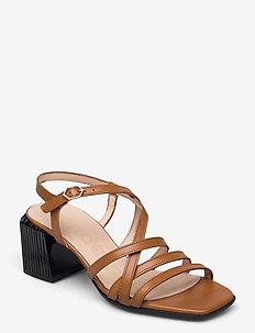 F-7602 ISEO - heeled sandals - brown