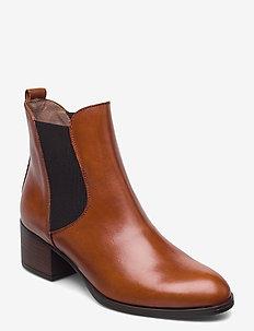 G-5124 - ankelstøvler med hæl - brown