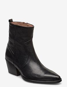 H-4020 - ankelstøvler med hæl - black