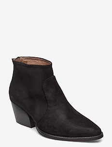 H-4021 - ankle boots with heel - black