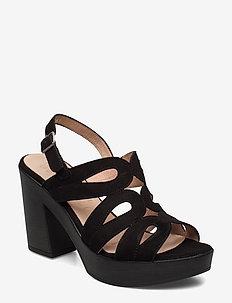 L-9161 - sandalen met hak - black