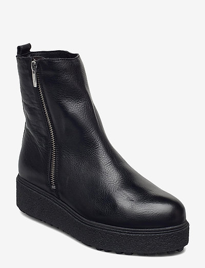 A-9508-M - flache stiefeletten - black