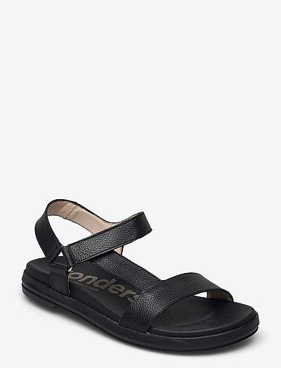 B-7410 WILLER - platta sandaler - black