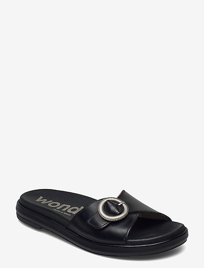 B-7411-F PERGAMENA - platta sandaler - black