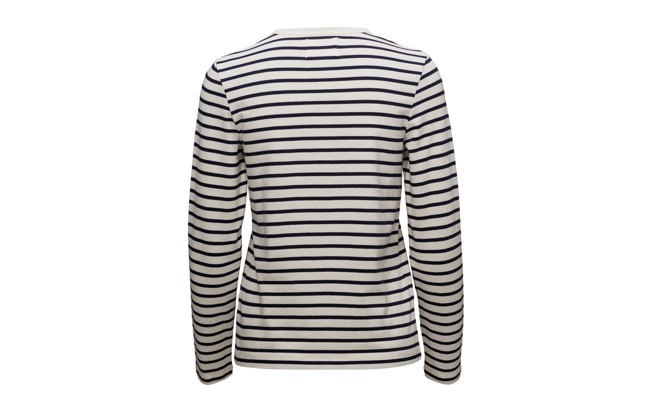 Moa 100 Long Stripes Wood Off Coton navy Sleeve white Axdgg15wq0
