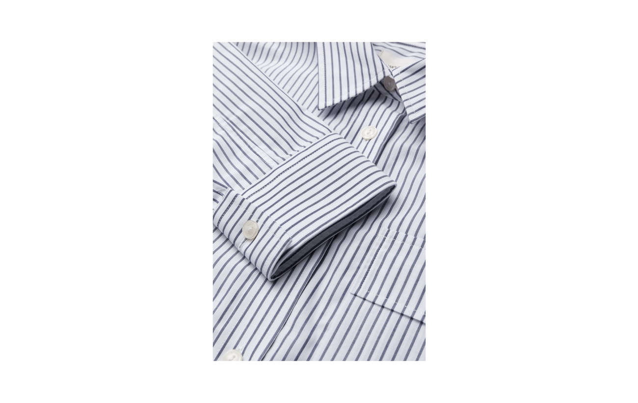 white Wood Shirt Coton Navy 100 Nicole cUqaqTwY