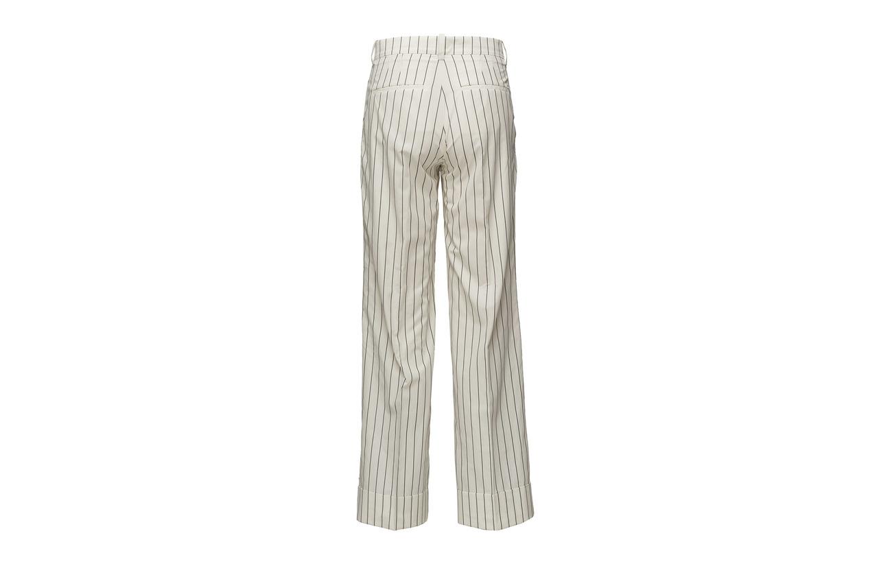 Wood 100 Trousers Marissa Pinstripe white Coton Off pzrpnqwA