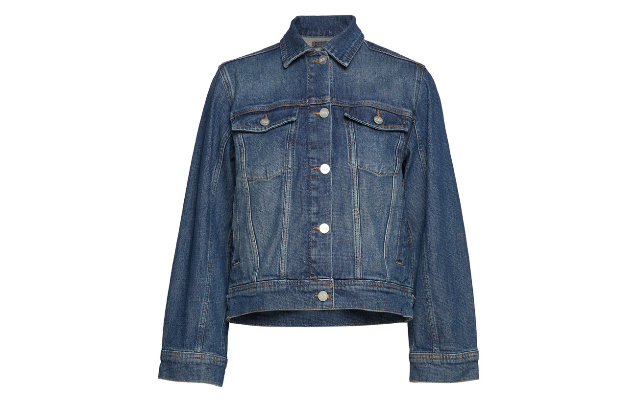 96 Coton Elastane Mid Blue 1 3 Alia Wood Polyester Jacket TwIgxqXPF