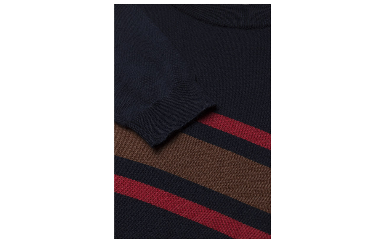 Sleeve Leon Navy Stripe Long Wood wTB7PzAqP