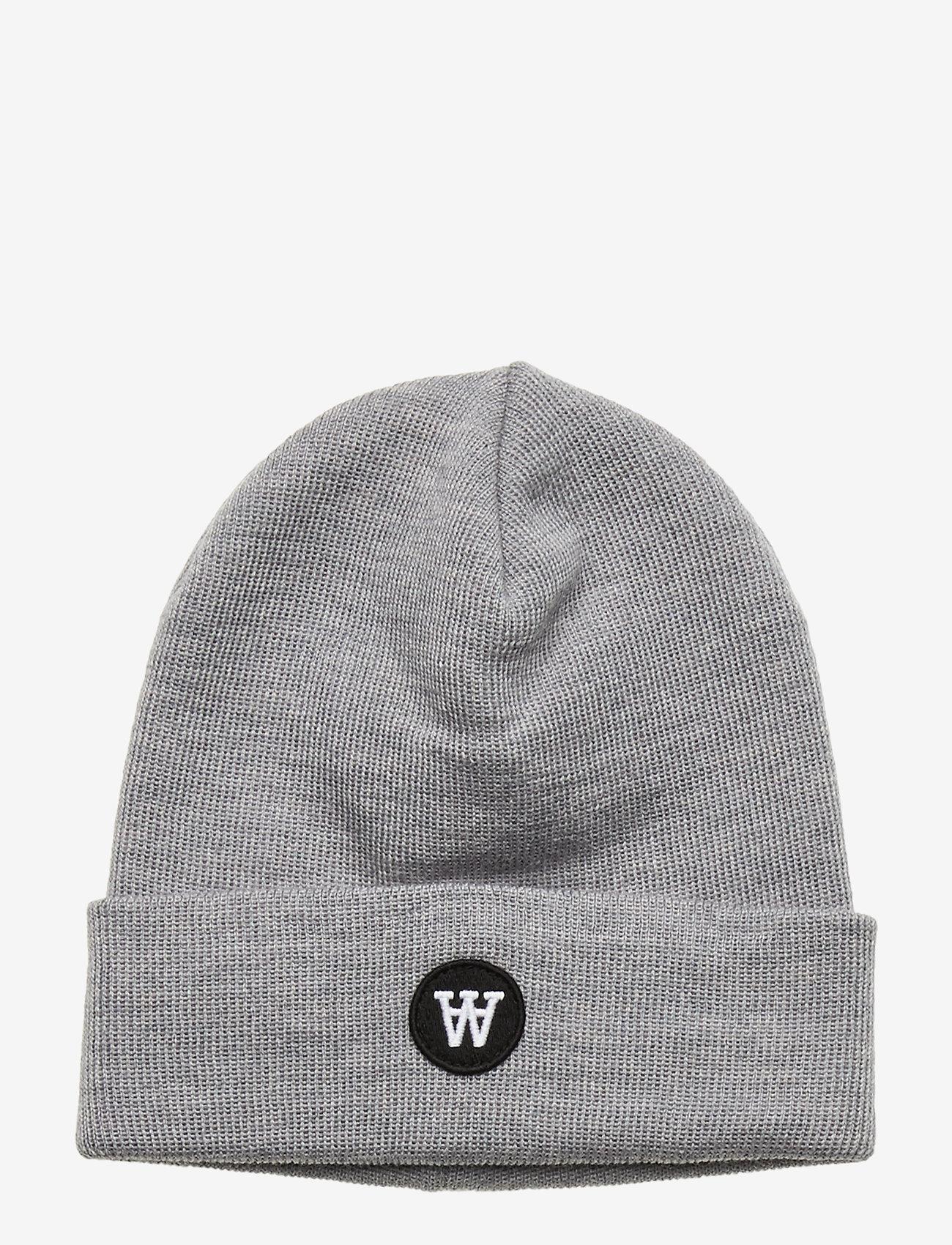 Wood Wood - Kai kids beanie - kapelusze - grey melange - 0