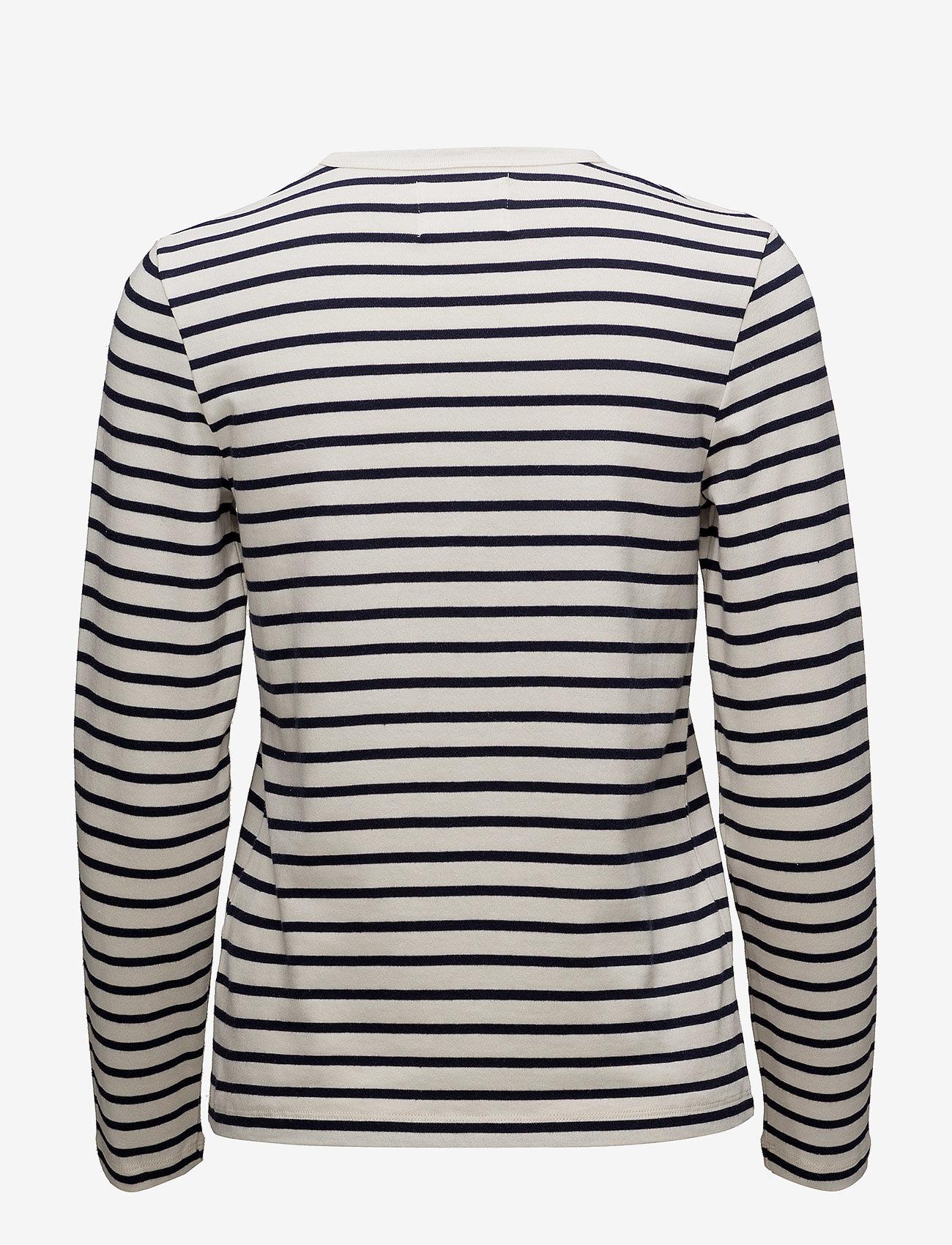 Wood Wood - Moa long sleeve - langærmede toppe - off-white/navy stripes - 1
