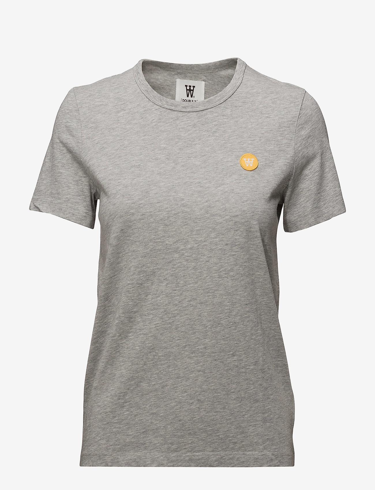 Wood Wood - Uma T-shirt - t-shirts - grey melange - 0
