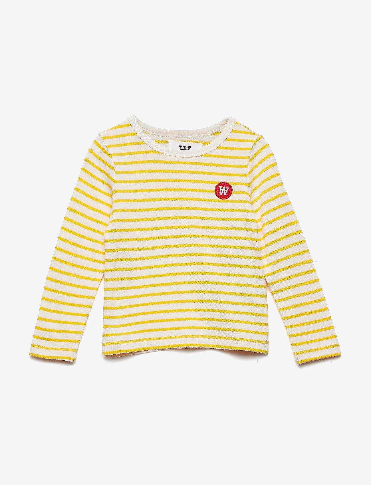 Wood Wood - Kim kids long sleeve - langärmelig - off-white/yellow stripes - 0