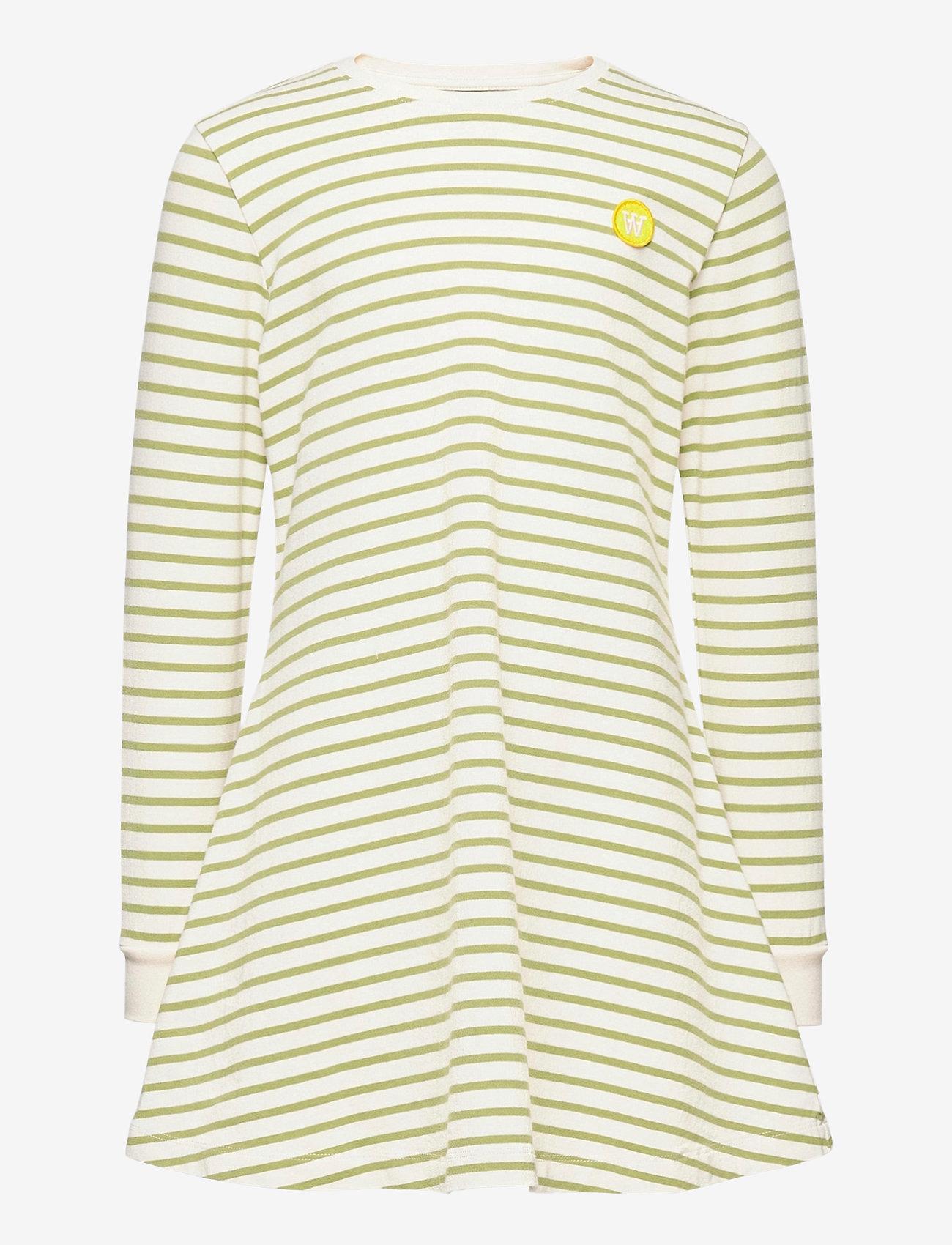 Wood Wood - Aya dress - robes - off-white/olive stripes - 0