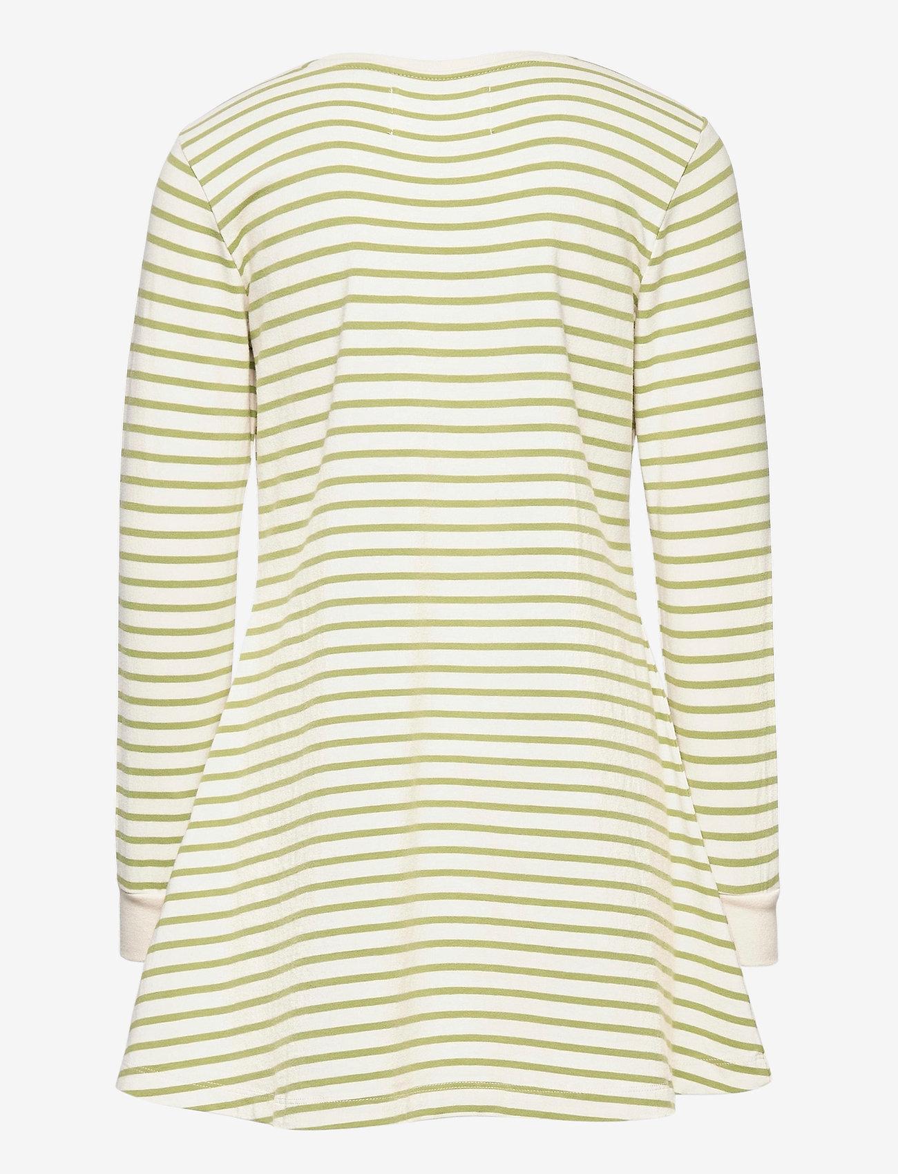 Wood Wood - Aya dress - robes - off-white/olive stripes - 1