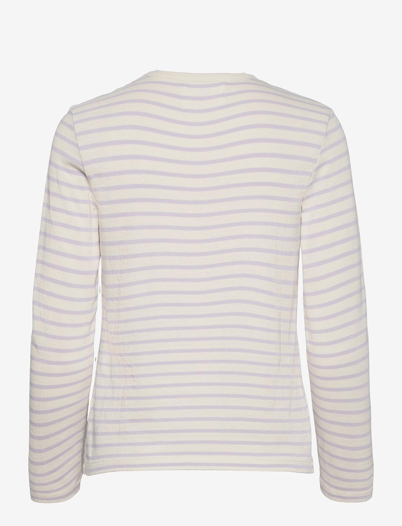 Wood Wood - Moa long sleeve - langærmede toppe - off-white/lilac stripes - 1