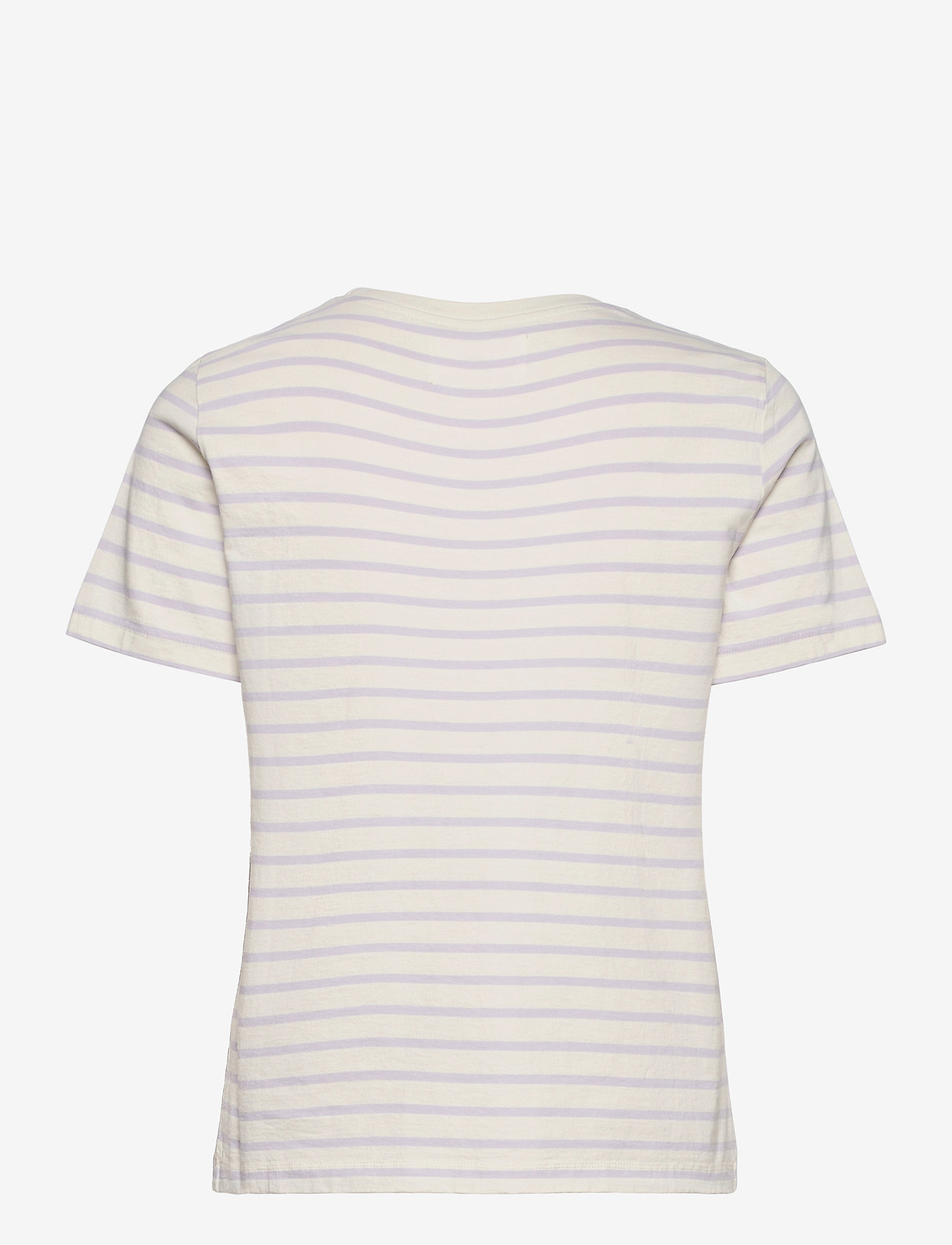 Wood Wood - Mia T-shirt - t-shirts - off-white/lilac stripes - 1