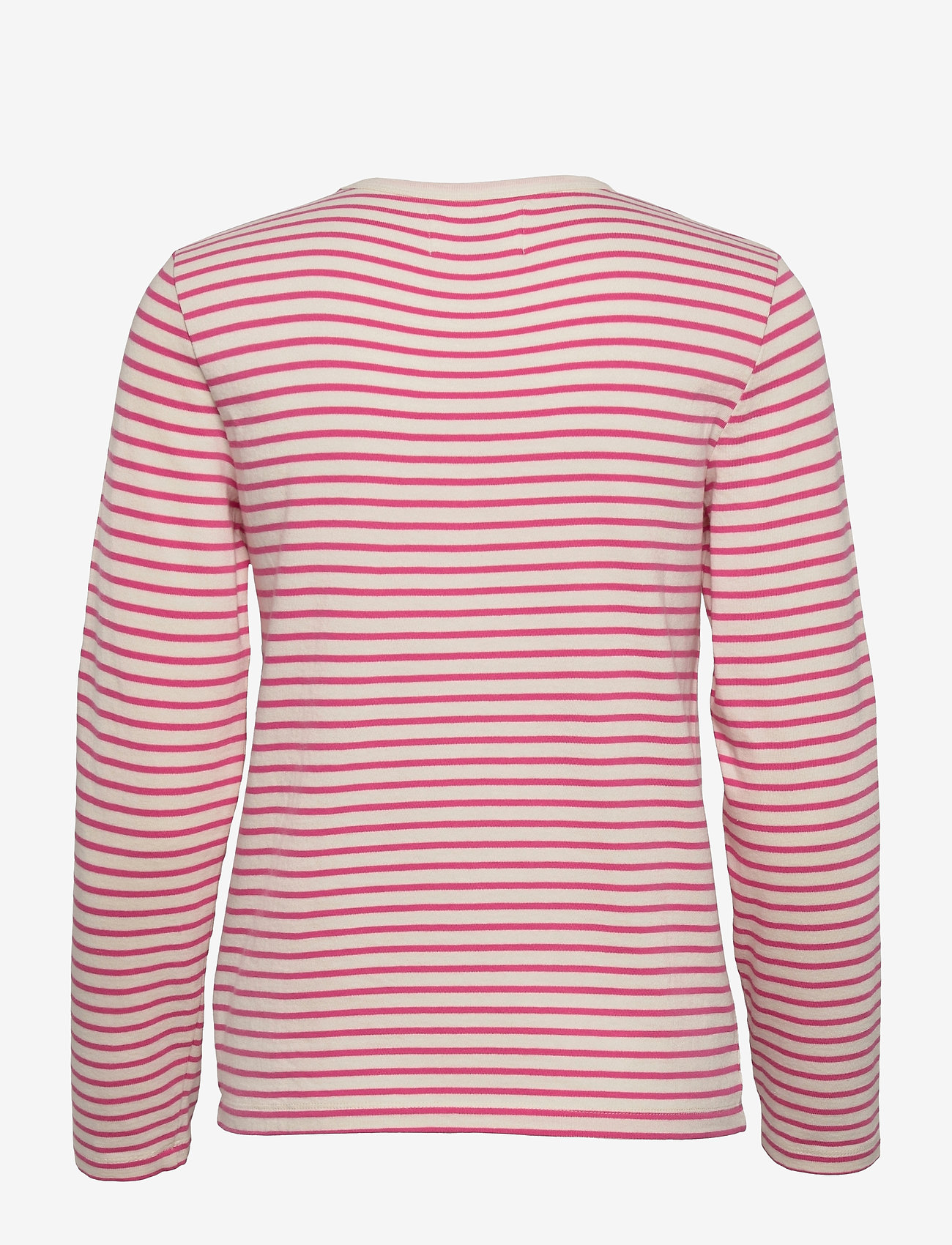 Wood Wood - Moa stripe long sleeve - langærmede toppe - off-white/pink stripes - 1