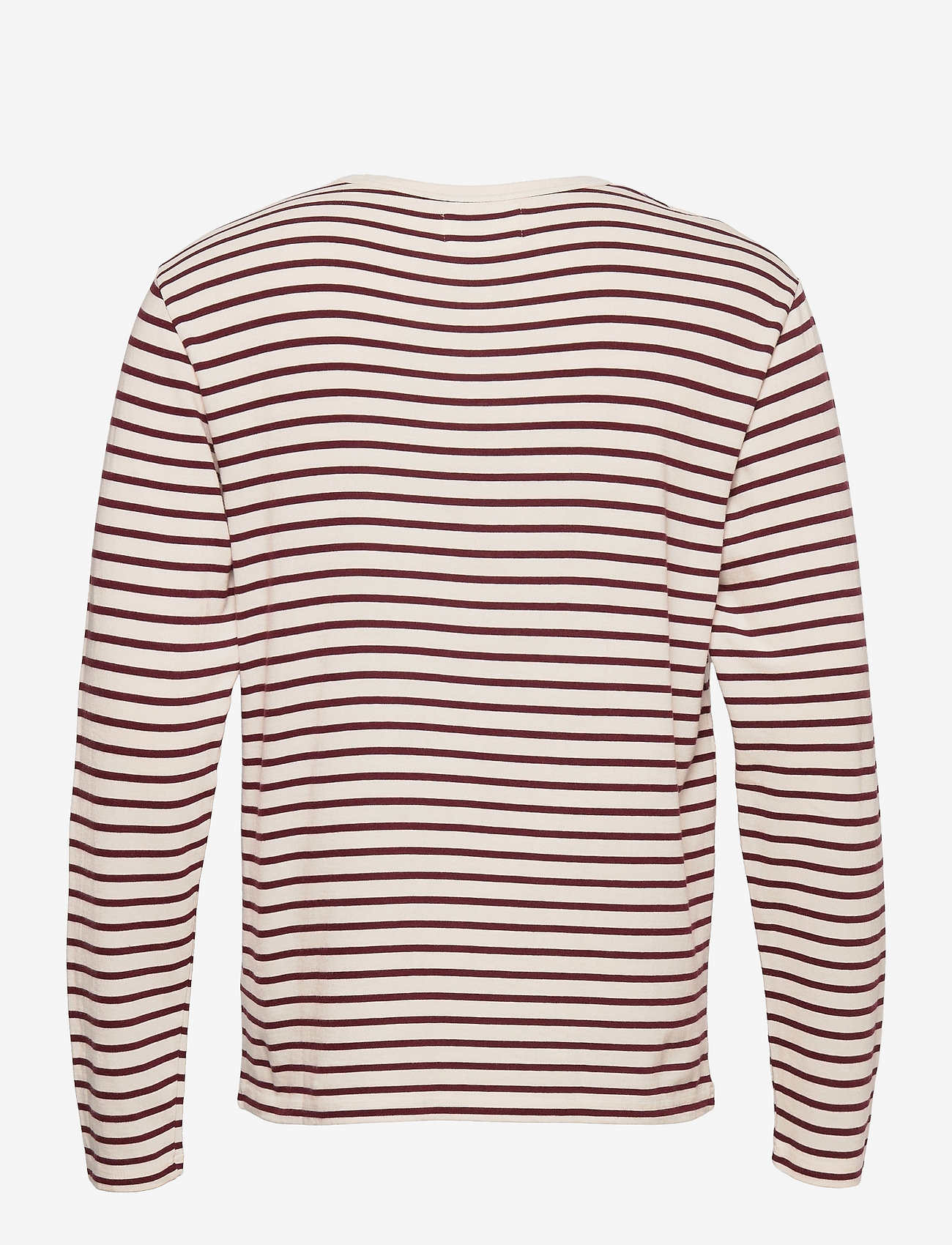Wood Wood - Mel long sleeve - lange mouwen - off-white/dark red stripes - 1