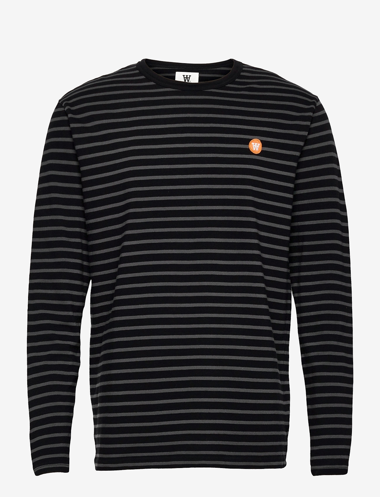 Wood Wood - Mel long sleeve - lange mouwen - black/grey stripes - 0