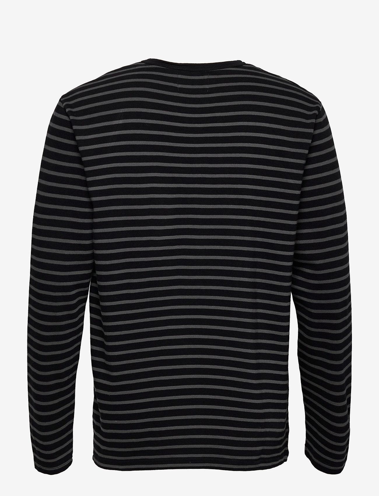 Wood Wood - Mel long sleeve - lange mouwen - black/grey stripes - 1