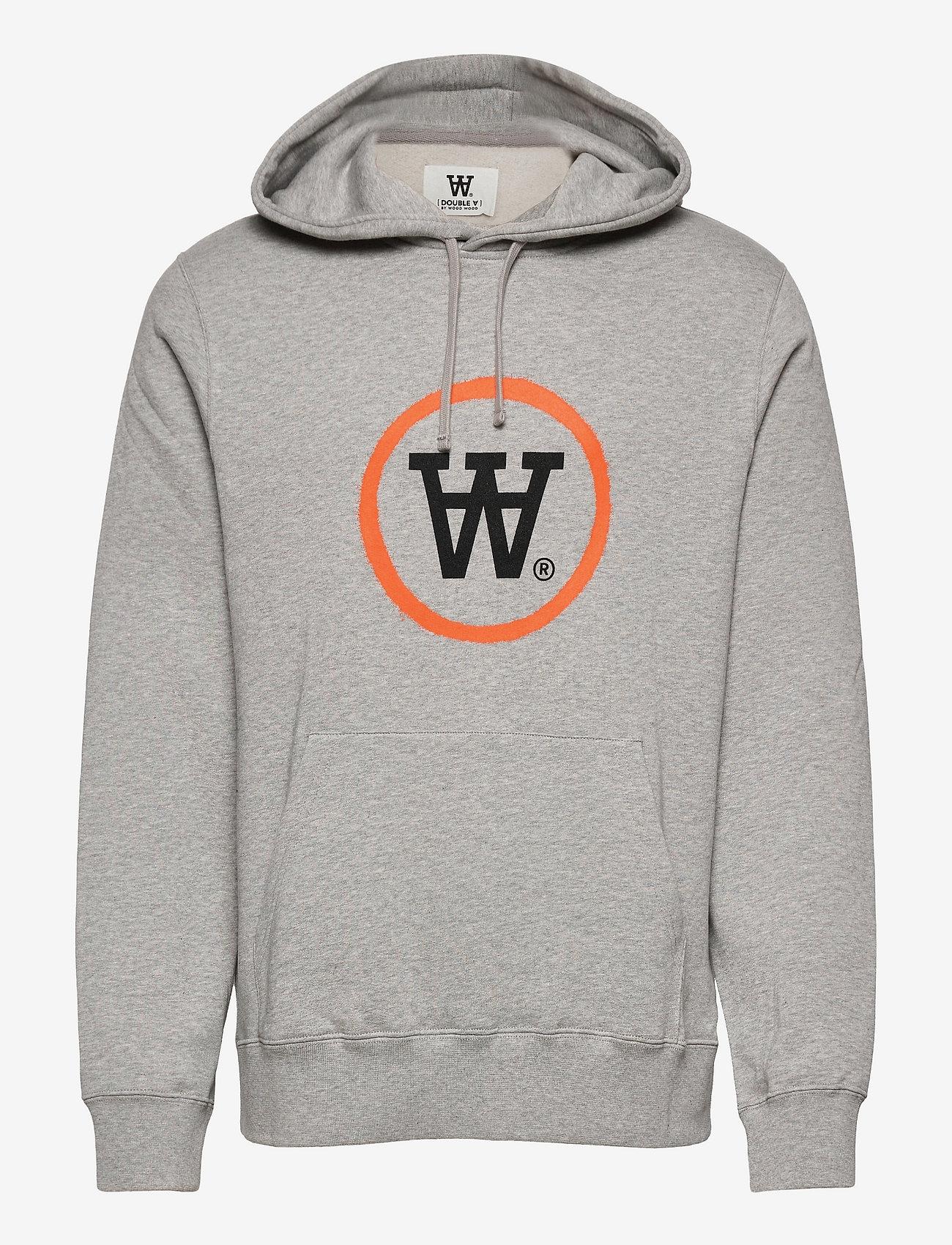 Wood Wood - Ian hoodie - hoodies - grey melange - 0