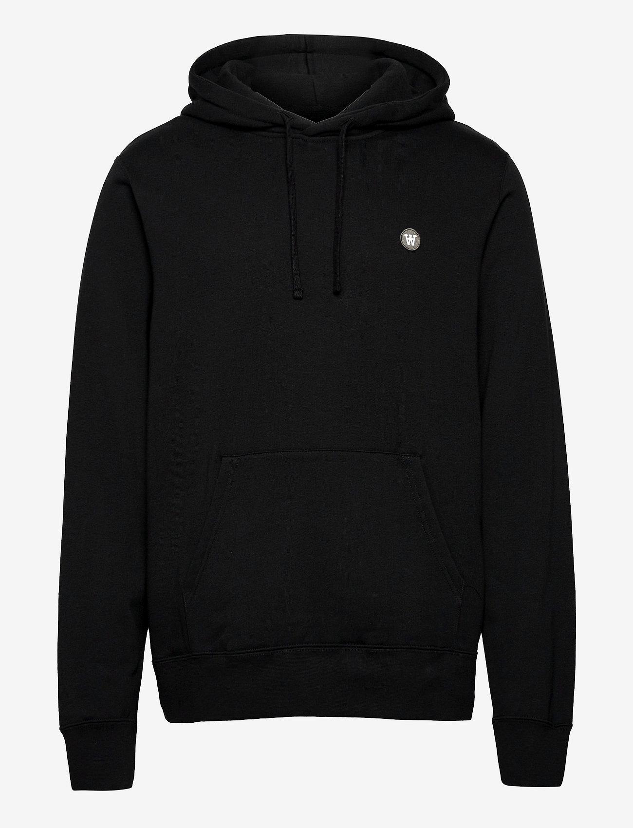 Wood Wood - Ian hoodie - hoodies - black/green - 0