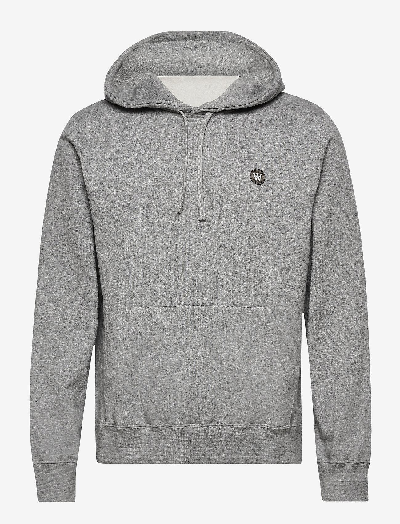 Wood Wood - Ian hoodie - hoodies - grey melange/green - 0