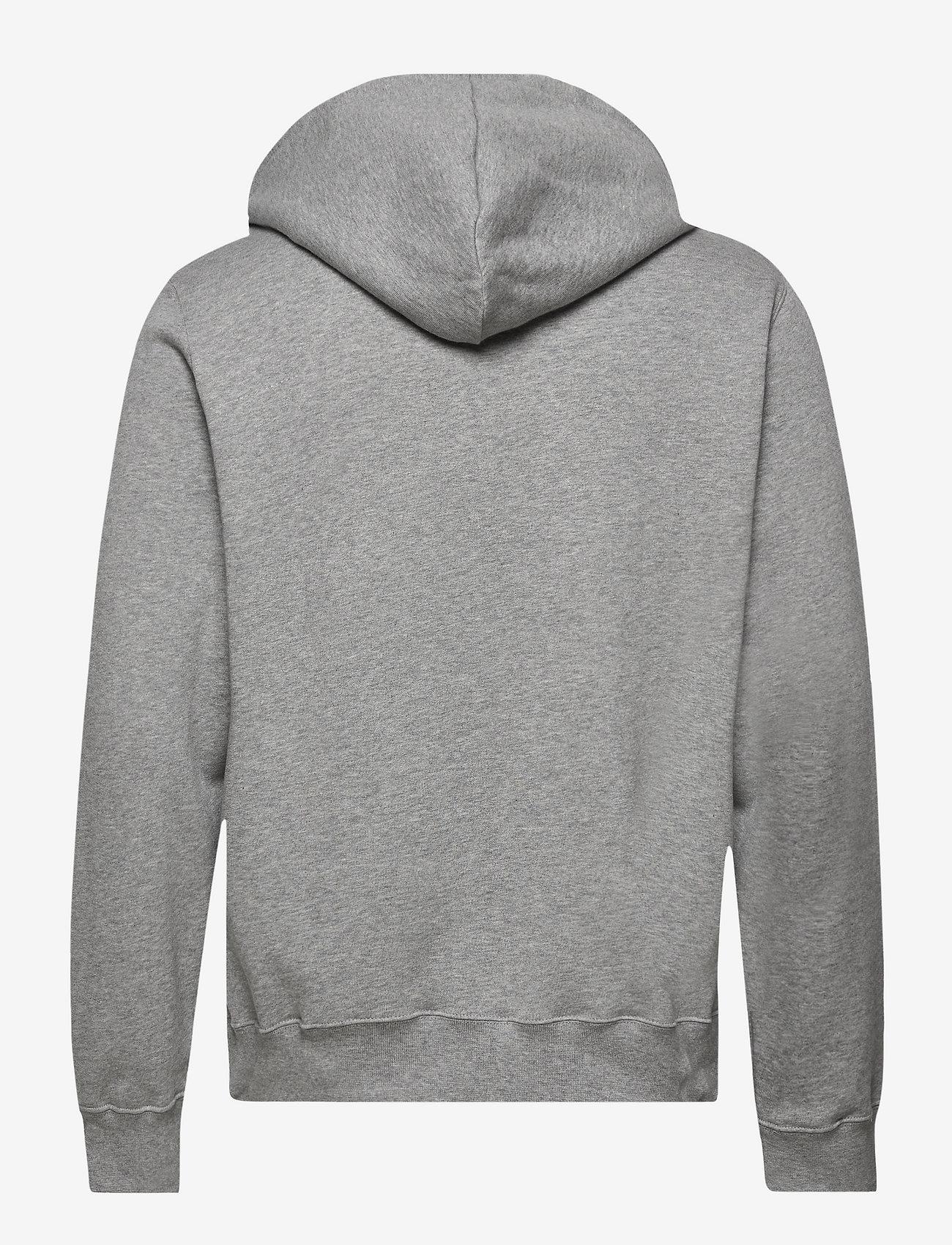 Wood Wood - Ian hoodie - hoodies - grey melange/green - 1