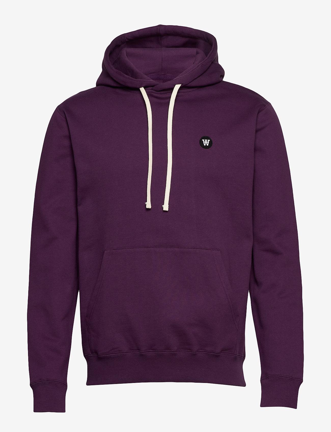 Wood Wood - Ian hoodie - basic sweatshirts - aubergine