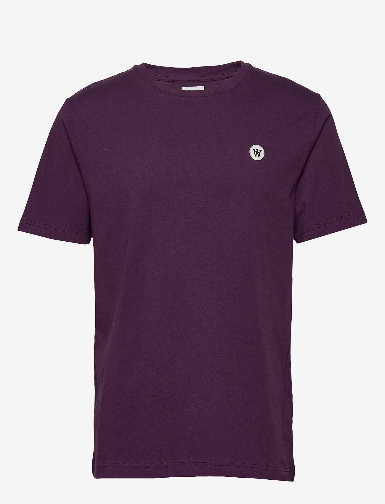 Wood Wood - Ace T-shirt - basic t-shirts - aubergine