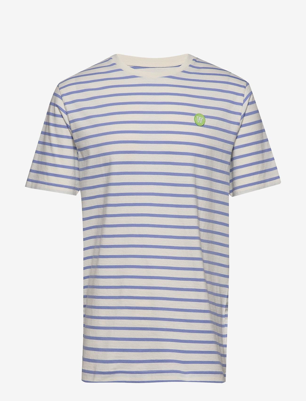 Wood Wood - Ace T-shirt - À manches courtes - off-white/blue stripes