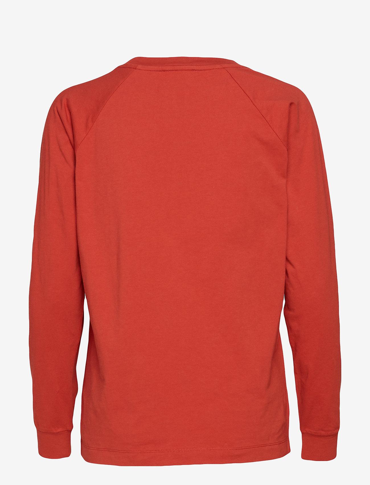 Wood Wood - Han long sleeve - sweatshirts - rust
