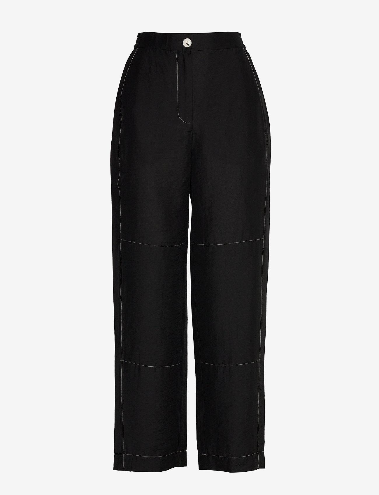 Wood Wood - Tilly trousers - bukser med brede ben - black - 0