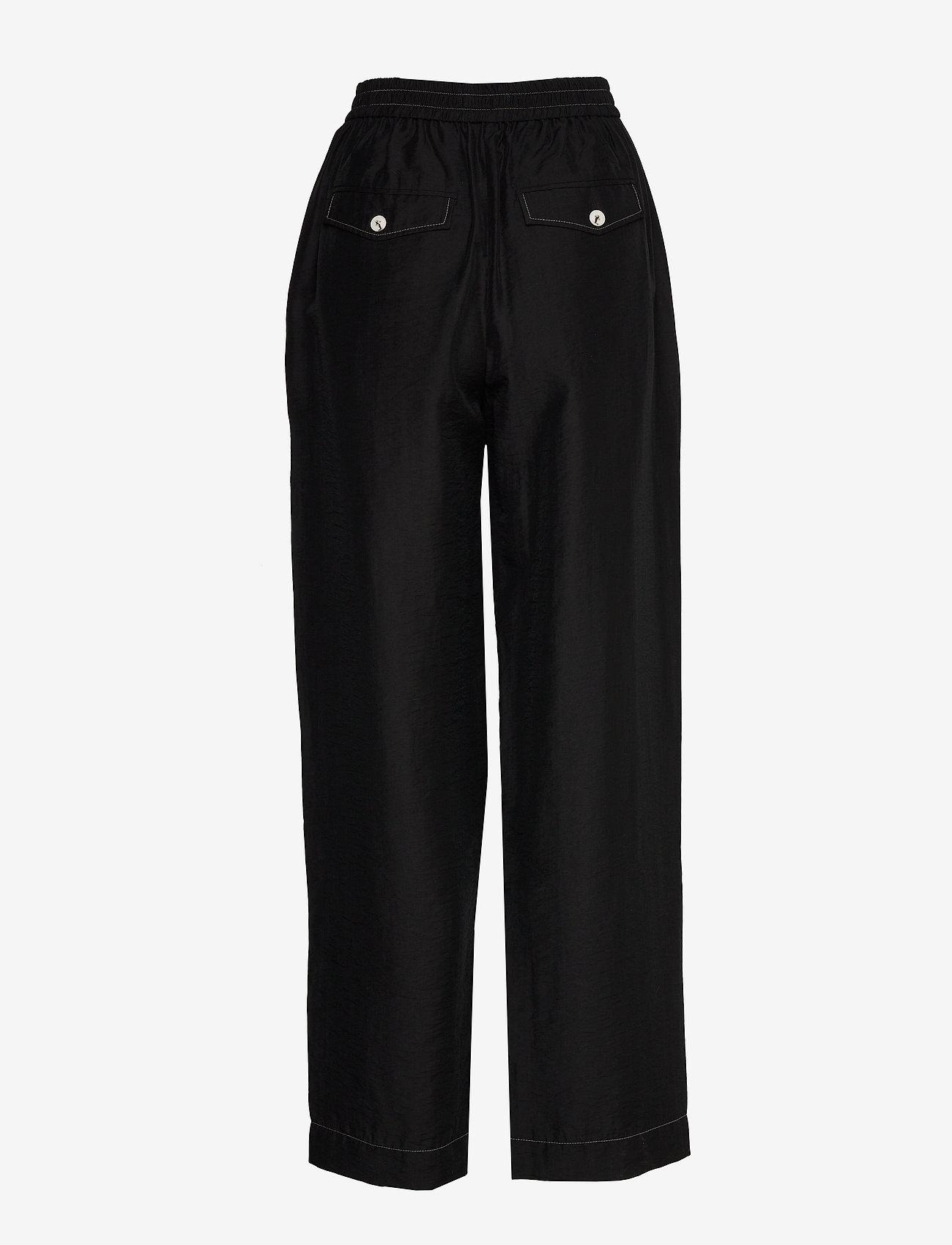 Wood Wood - Tilly trousers - bukser med brede ben - black - 1