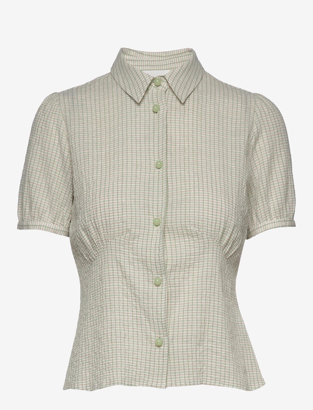 Wood Wood - Lila shirt - lyhythihaiset paidat - green check - 0