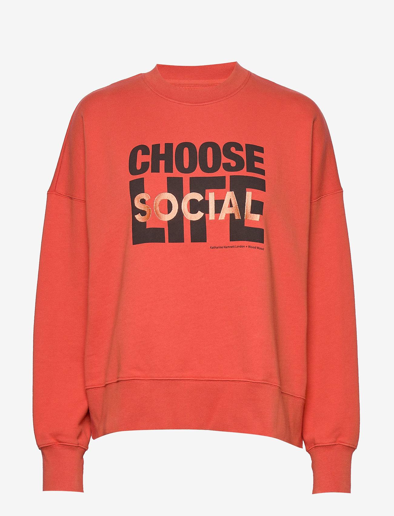 Wood Wood - Patti sweatshirt - sweatshirts - coral - 0